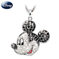 Mickey Mouse Classic Crystal Pendant Necklace