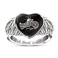 Ride Hard, Live Free Women's Ring