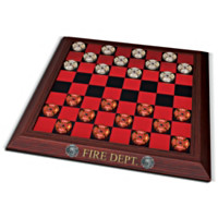 Firehouse Checkers Game Set