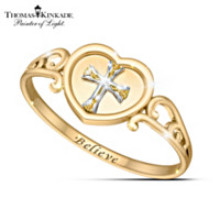 Thomas Kinkade Believe Diamond Ring