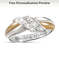 Diamond Embrace Personalized Women's Ring