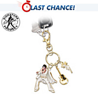 Elvis Ready To Roll Crystal Key Chain