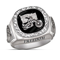 Men's Diamond Custom Biker Ring