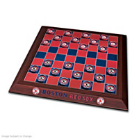 Boston Red Sox Checker Set