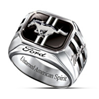 Untamed American Spirit Ford Mustang Men's Ring