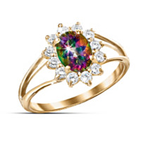 Mystic Topaz Women's Ring