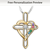 A Mother's Faith And Family Personalized Pendant Necklace