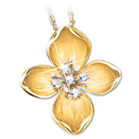 The Legend Of The Dogwood Diamond Pendant Necklace