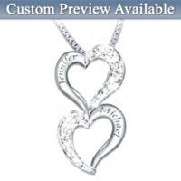 Loving Hearts Personalized Diamond Pendant Necklace