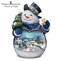 Thomas Kinkade Winter Whimsy Snowman Cookie Jar