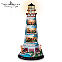 Thomas Kinkade's Tower Of Light Lighthouse Sculpture