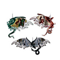 Dragons Of The Mystic Realm Ornament Set One: Set Of Three
