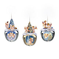 Christmas Blessings Jingle Bell Ornaments: Set Of Three