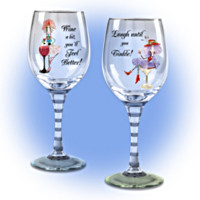 Dolly Mama's Happy Hour Glassware Set One: Set Of Two