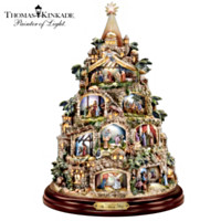 Thomas Kinkade The Nativity Tree Tabletop Centerpiece