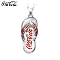 Coca-Cola Diamond Flip Flop Pendant Necklace