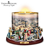 Thomas Kinkade It's Time For Christmas Candleholder