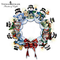 Thomas Kinkade Let It Snow Wreath