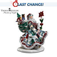 Thomas Kinkade Santa's Holiday Best Figurine