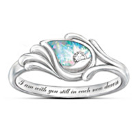 I Am With You Diamond And Created Opal Women's Ring