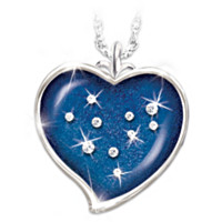 Stars Of Heaven Crystal Pendant Necklace