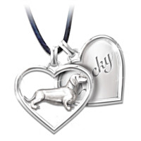 Best Friends Forever Personalized Dachshund Pendant Necklace