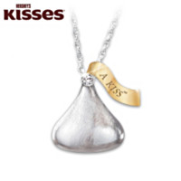 KISSES For My Daughter HERSHEY'S KISS Pendant Necklace