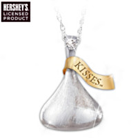 KISSES For My Granddaughter Pendant Necklace