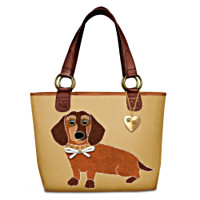 Dachshund Applique Tote Bag