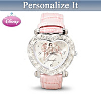 Disney Princess Personalized Crystal Women's Watch