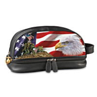 USMC Leather Travel Bag