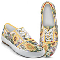 Lena Liu Sunflower Splendor Canvas Sneakers