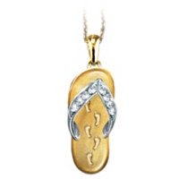 Footprints In The Sand Pendant Necklace