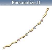 My Family, My Joy Personalized Swarovski Birthstone Bracelet