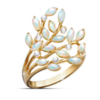 Opal Indulgence Diamond Ring
