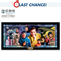 Star Trek Illuminating Stained Glass Panorama Wall Decor