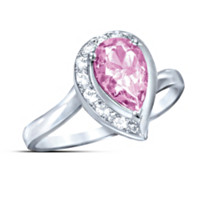Lovely In Pink Topaz Journey Ring