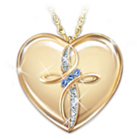 My Daughter, Blessings Always Diamond And Sapphire Pendant