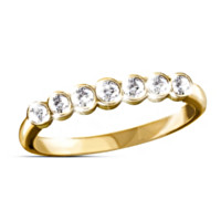 Golden Circle Of Love Diamond Ring