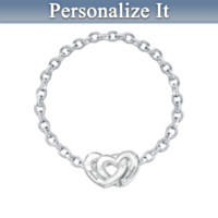 Two Hearts Personalized Bracelet