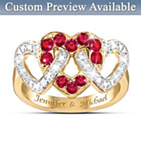 Love's Embrace Personalized Ring