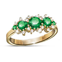 Royal Radiance Emerald & Diamond Ring