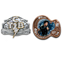 TCB And Guitar Belt Buckles