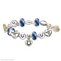 Go Colts! #1 Fan Charm Bracelet
