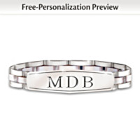 My Son, My Pride, My Joy Personalized Men's Bracelet
