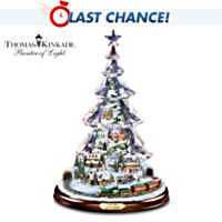 Thomas Kinkade Let It Snow Tabletop Tree