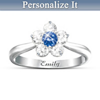 Precious Granddaughter Personalized Ring