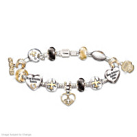 Go Saints! #1 Fan Charm Bracelet
