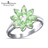 Thomas Kinkade Jewel Of The Garden Diamond Women's Ring