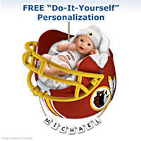 Washington Redskins Personalized Baby's First Ornament